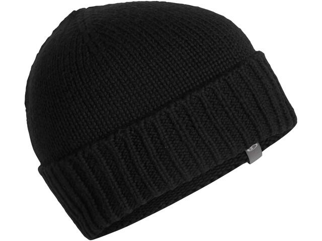 Icebreaker Vela Cuff Bonnet, black